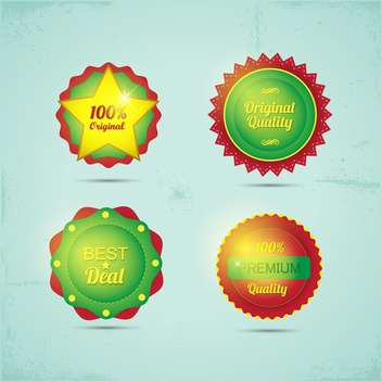 set of high quality badges and labels - бесплатный vector #133706