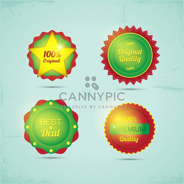 set of high quality badges and labels - Free vector #133706