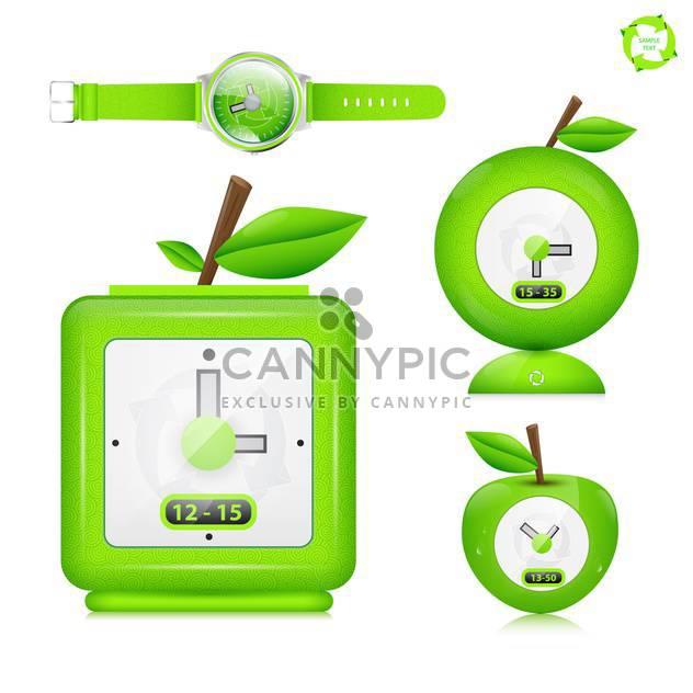 Öko-Uhr Vektor Icon-set - Free vector #133846