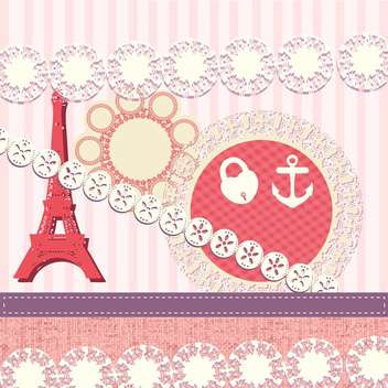 scrapbook elements in french style - vector gratuit(e) #133946