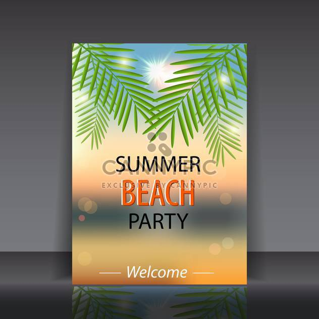 summer beach party poster - Free vector #133956