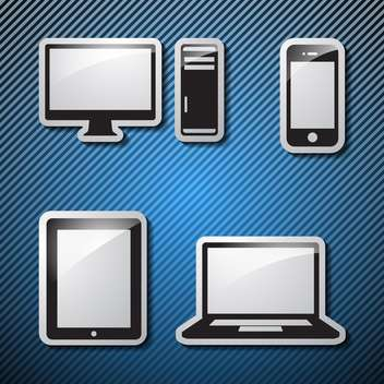 set of monitor, tablet and smart phone - Free vector #133966