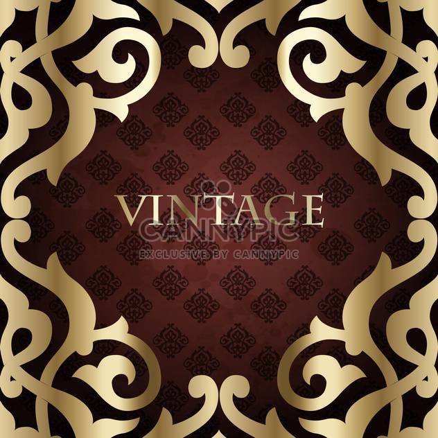 vintage holiday royal frame - Free vector #133976