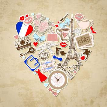 love in paris background illustration - vector gratuit #133986