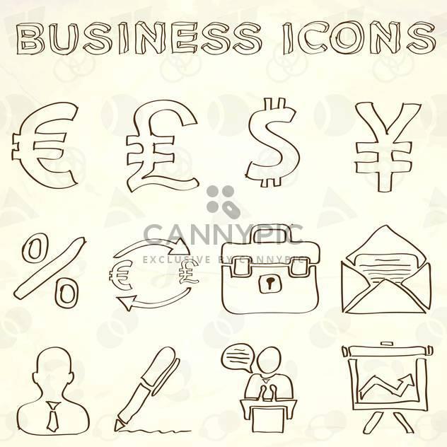 handgezeichnete Geschäft doodles Satz - Free vector #133996