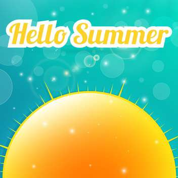hello summer holiday background - vector gratuit #134026