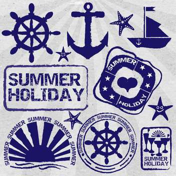 vintage summer poster background - Free vector #134166