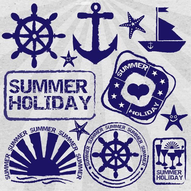 vintage summer poster background - vector #134166 gratis