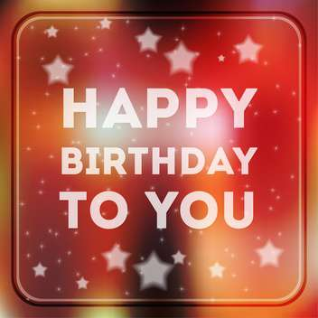 Happy birthday poster background - Free vector #134176