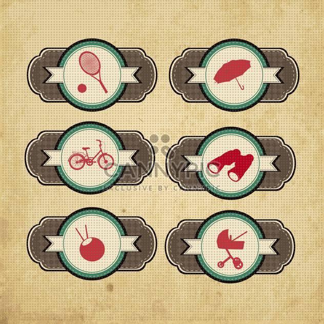 vintage design elements set - Free vector #134206