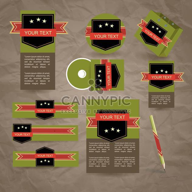 corporate labels business design set - Free vector #134216