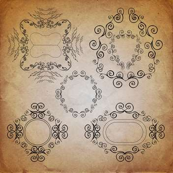ornate vintage frame set - vector gratuit #134226