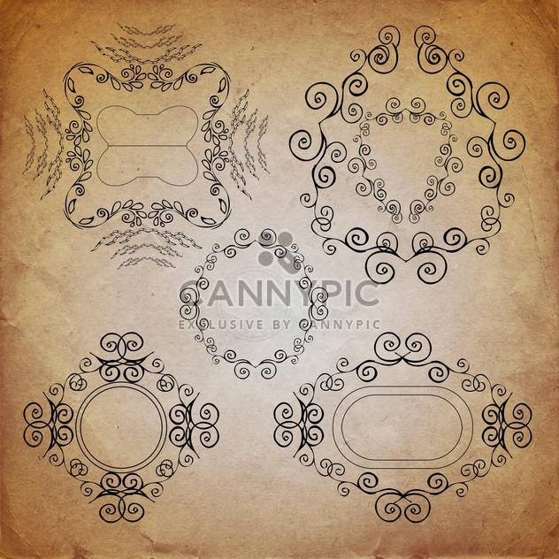 ornate vintage frame set - Free vector #134226