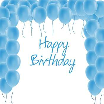 happy birthday greeting card - vector gratuit #134276