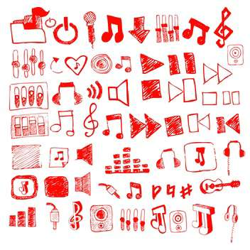 audio web player sketch set - Free vector #134336
