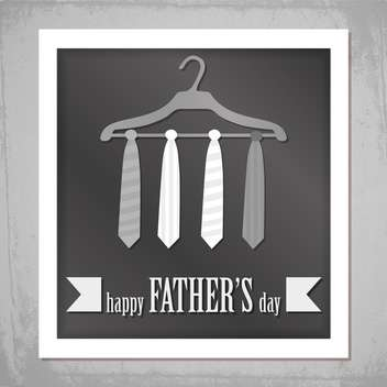 happy father's day banner - vector #134356 gratis