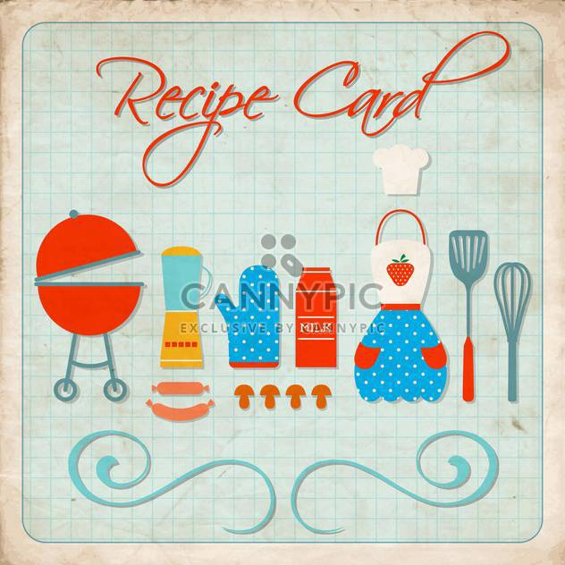 cooking recipe card background - Free vector #134386