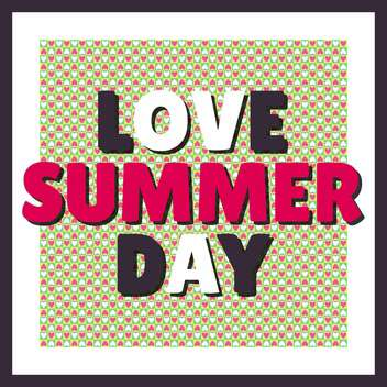 love summer day background - vector gratuit #134426