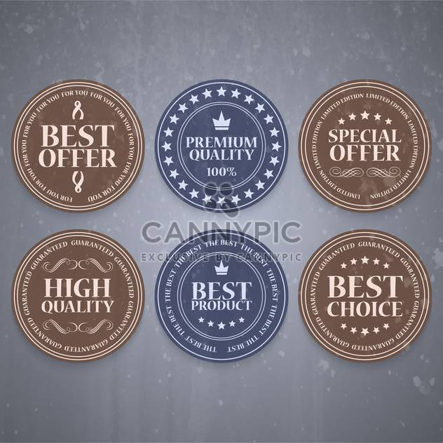 high quality sale labels and signs - Free vector #134446