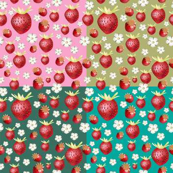 ripe summer red strawberry background - бесплатный vector #134546