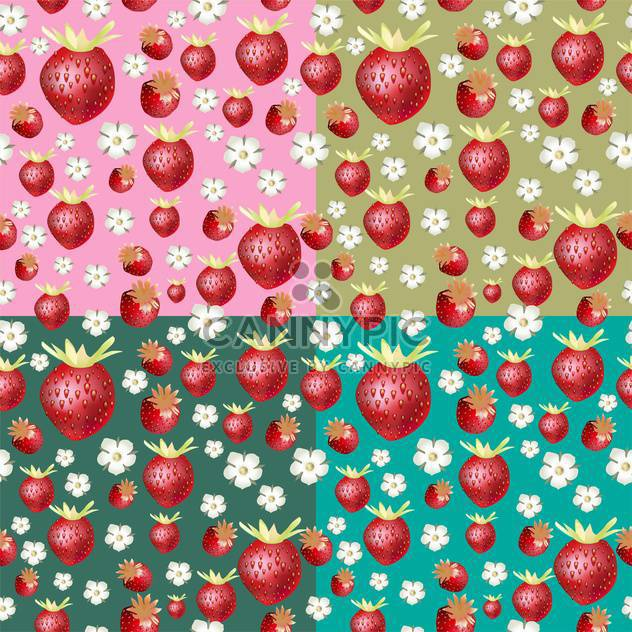 Roter reif Sommer Erdbeer Hintergrund - Free vector #134546