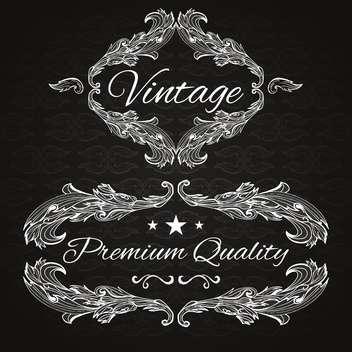 retro frame premium quality - Free vector #134566