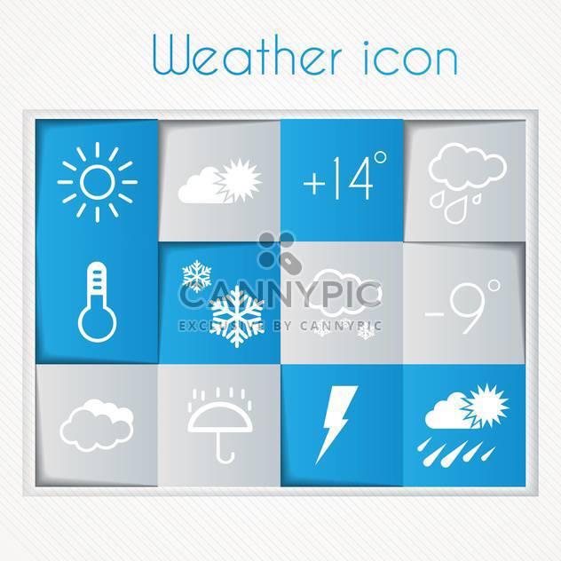 Wetter-Widget und Ikonen-set - Free vector #134586
