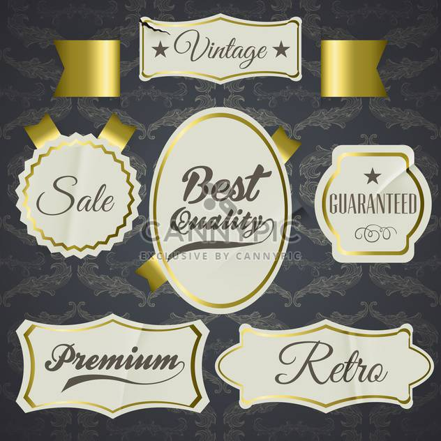 set of labels for best quality items - Free vector #134596