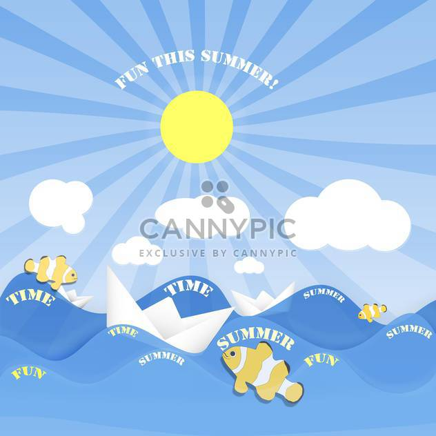 summer time vacation holiday banner - Free vector #134636