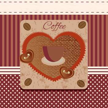 grunge background with coffee and cup - vector gratuit(e) #134646