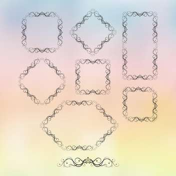 retro frame ornate set - vector #134686 gratis