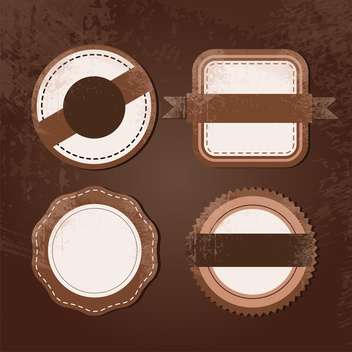 vintage labels blank background - vector #134696 gratis