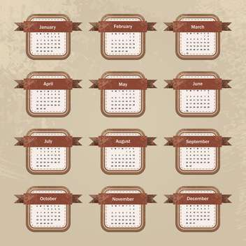 year calendar vector background - Kostenloses vector #134706