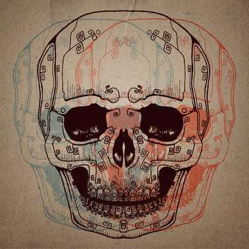 skull study drawing with pencil on paper - Kostenloses vector #134746
