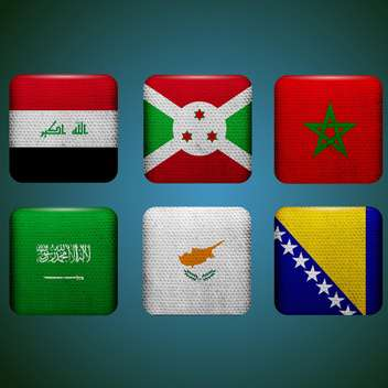 world countries vector flags - vector gratuit #134756