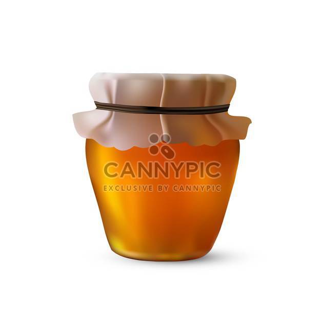jar with honey and rope illustration - Free vector #134856