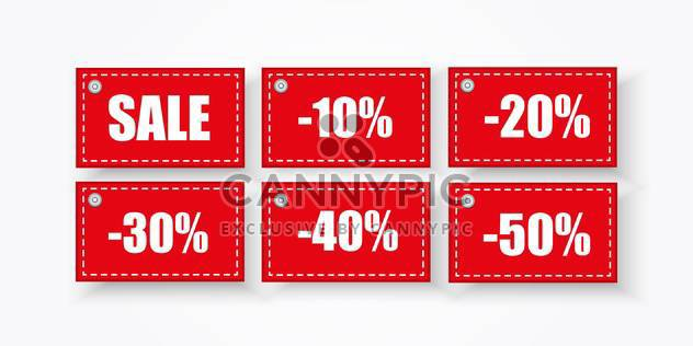 vector background with squares sale labels - Free vector #134876
