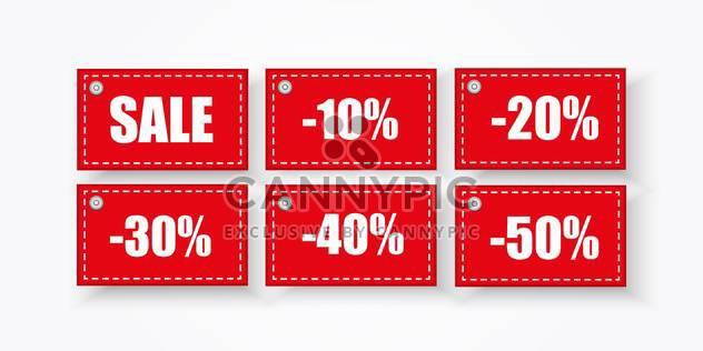 Vektor-Hintergrund mit Quadraten Verkauf Etiketten - Kostenloses vector #134876