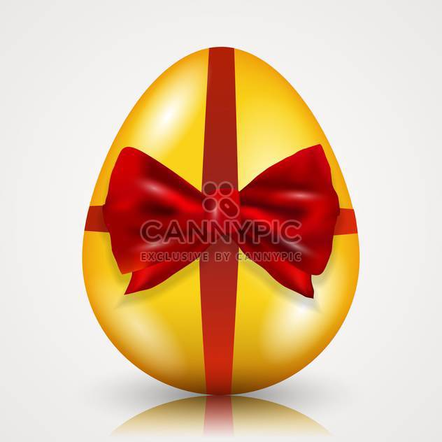 easter egg tied with ribbon and bow - Free vector #134956