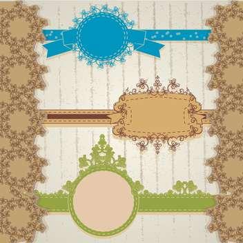 vintage floral frame vector illustration - vector gratuit #134976