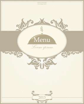 restaurant menu design illustration - vector gratuit #135096