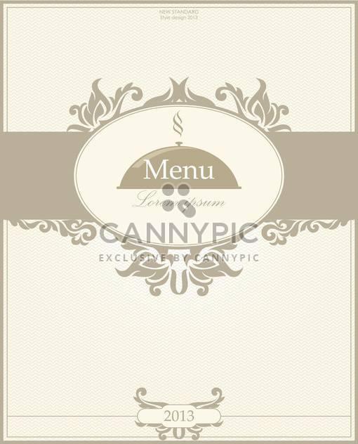 restaurant menu design illustration - Free vector #135096