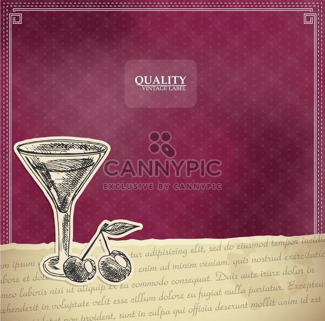 vintage style label with cocktail - Free vector #135176