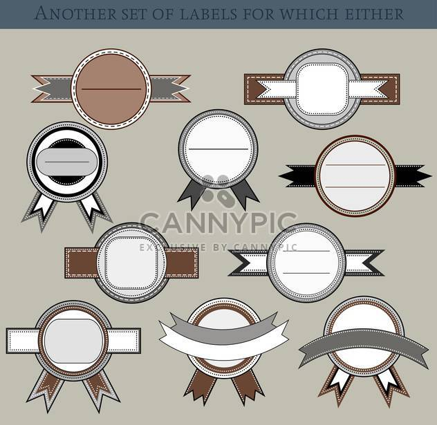 set of different labels and badges in retro style - Free vector #135206