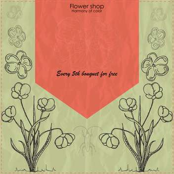 vector flower shop vintage banner background - vector gratuit(e) #135246