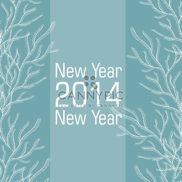 New 2014 year card in blue and white colors - Free vector #135286