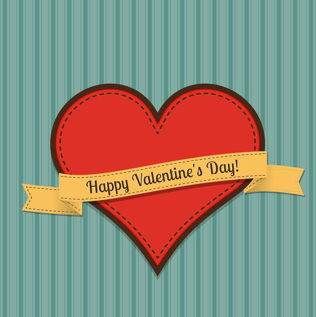 Vector vintage greeting card for Valentine's day with text place - vector gratuit #125916