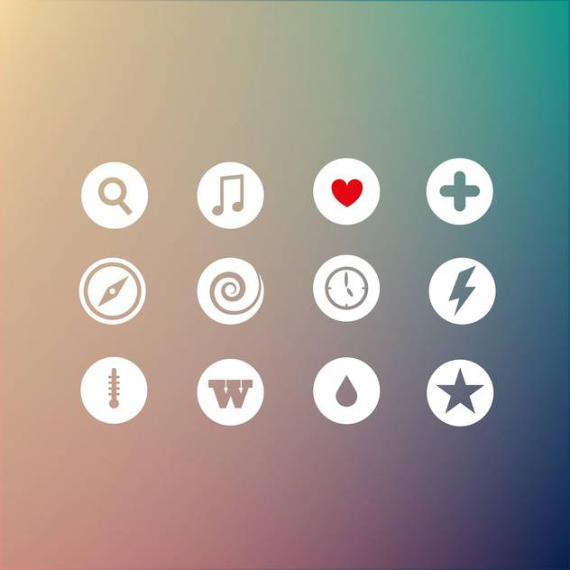 Vector set of different round web icons - бесплатный vector #125936
