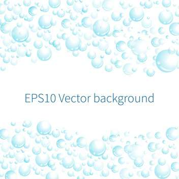 Vector illustration of white background with blue bubbles - vector gratuit #125976