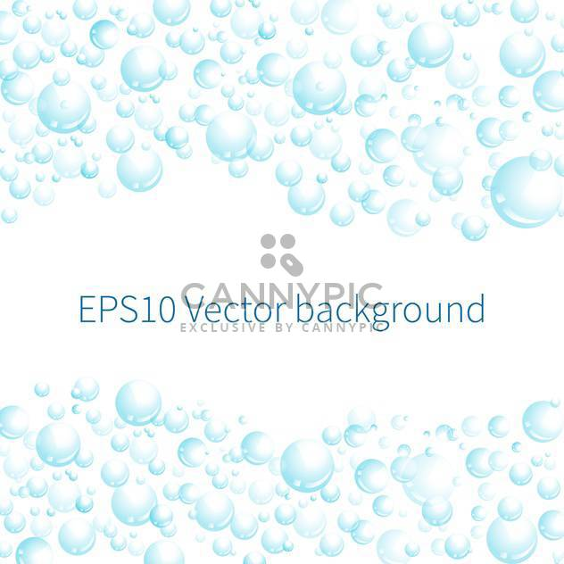 Vector illustration of white background with blue bubbles - Free vector #125976